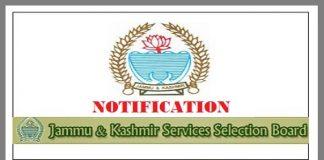 JKSSB Notification