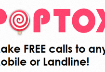 POPTOX - Make free calls to any mobile or landline!