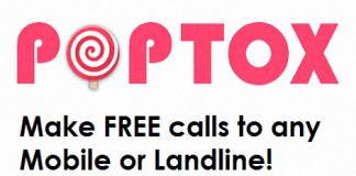 POPTOX - Make free calls to any mobile or landline!