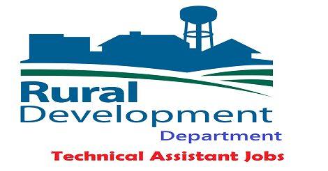 Rural Development Department needs Technical Assistants