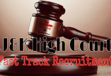 J&K High Court Fast Track Recruitment