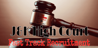 J&K High Court Fast Track Recruitment