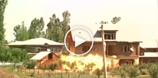 Watch: Gunfight rages between rebels & forces in Baramulla