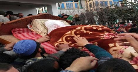 Dead body of Shaista Hamid