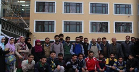 Students at Central University of Kashmir