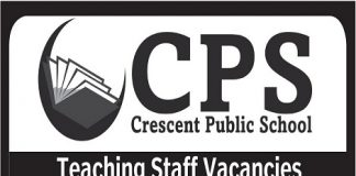 Crescent Public School has teaching staff vacancies