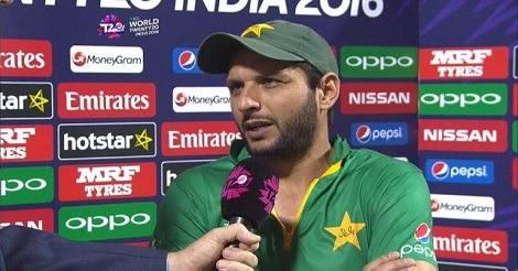 ICC World T20: Shahid Afridi during Post-match Presentation