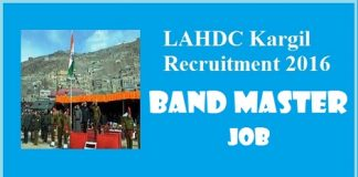 Job opportunity in LAHDC Kargil