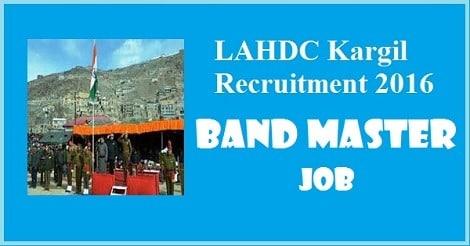 Job opportunity in LAHDC Kargil