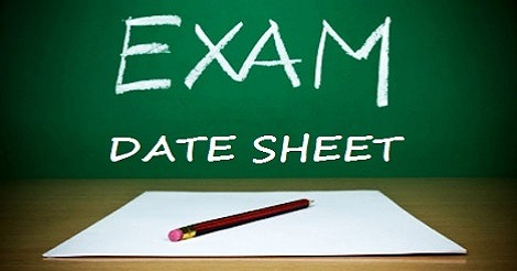 Date Sheet for Examination
