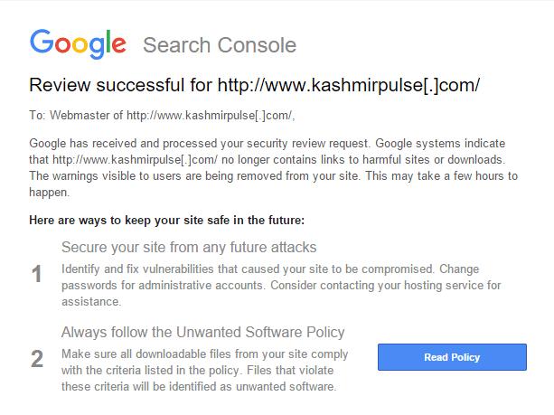 Review successful for www.kashmirpulse.com