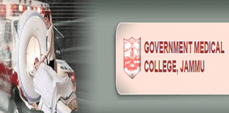 Government Medical College Jammu Recruitment - 180 Vacancies