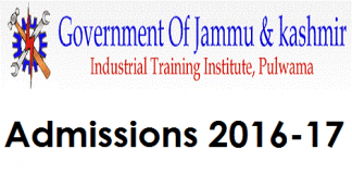 ITI Pulwama starts Admissions for 2016-17