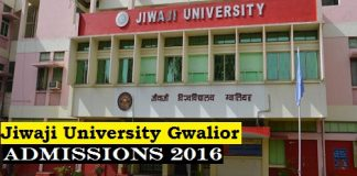 Admissions open in Jiwaji University Gwalior