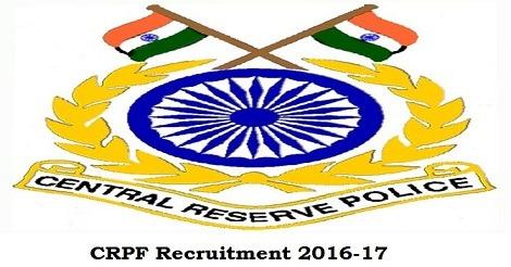 CRPF HC (Ministerial) Recruitment 2016
