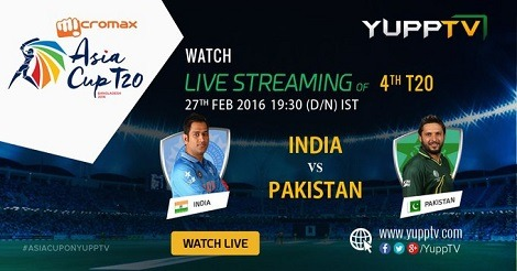 Watch Asia Cup India vs Pakistan, Live & Exclusive on YuppTV