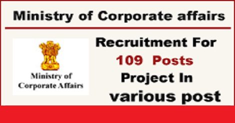 Ministry of Corporate Affairs Recruitment 2016