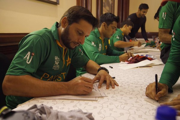 Pakistan squad enjoying their WT20 pre-event activities in Kolkata
