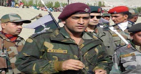M S Dhoni with Indian Army