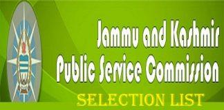 JKPSC Selection List