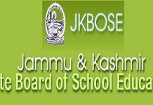 Jammu & Kashmir State Board of School Education (JKBOSE)