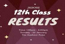 12th Class (Kashmir Province) results today JKBOSE