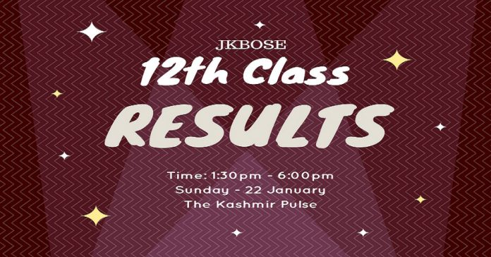 12th Class (Kashmir Province) results today JKBOSE