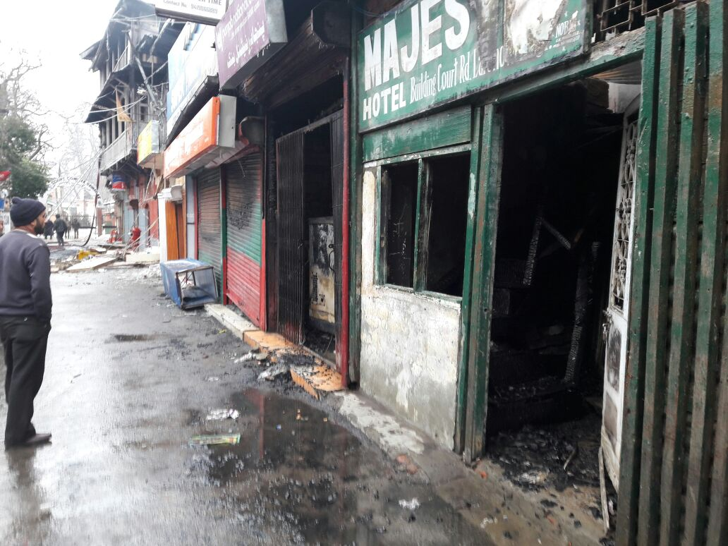 Bank, Post Office, Shops gutted in Court Road blaze