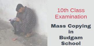 10th Class Exam Mass Copying in Budgam School