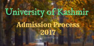 Admission Process 2017 - University of Kashmir
