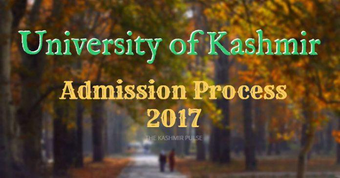 Admission Process 2017 - University of Kashmir