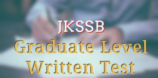 JKSSB Graduate Level Written Test