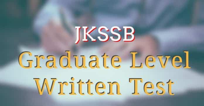 JKSSB Graduate Level Written Test
