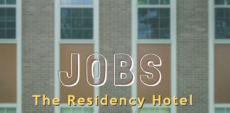 Job opportunities at The Residency Hotel