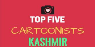Top Five Cartoonists of Kashmir