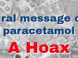 Viral message on paracetamol a hoax