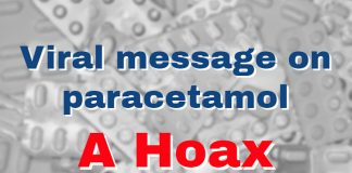 Viral message on paracetamol a hoax