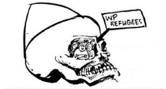 West Pakistan refugee issue - Cartoon by Malik Sajad