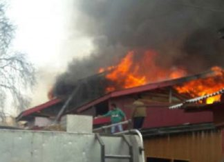 Eight house gutted in fire in Srinagar