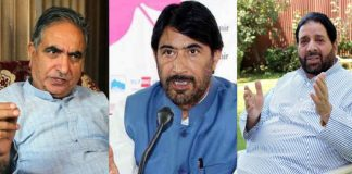 G H Mir of Democratic Party Nationalist, G A Mir of Jammu and Kashmir Pradesh Congress Committee and Hakim Yasin of Peoples Democratic Front
