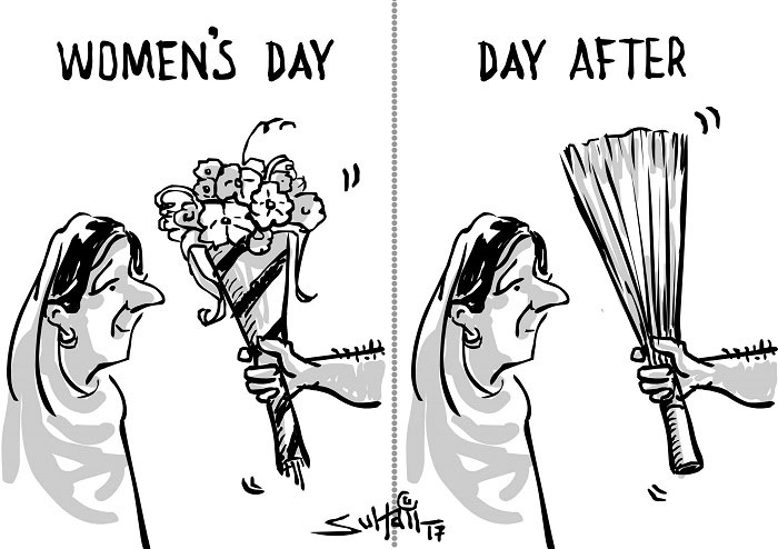 International Women's Day – Cartoon by Suhail H. Naqshbandi