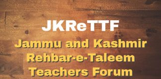 Jammu and Kashmir Rehbar-e-Taleem Teachers Forum (JKReTTF)