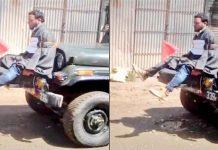 Army tying Kashmiri youth to a jeep