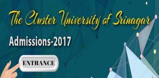 Entrance Test - Cluster University of Srinagar