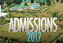 Kashmir University Admissions 2017