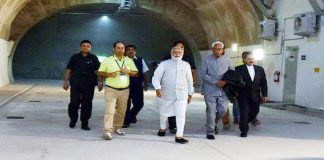 Prime Minister Narendra Modi while inaugurating Chenani-Nashri Tunnel