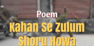 Kahan Se Zulum Shoru Howa - A Poem for Kashmir