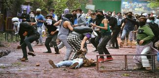 Student protests in Kashmir