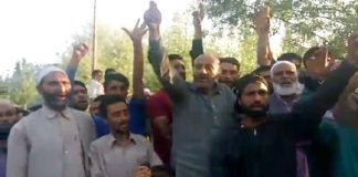 Er Rasheed leads anti-Army protest in Sarmarag