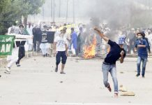 Protests, clashes with forces follow Eid prayers in Kashmir